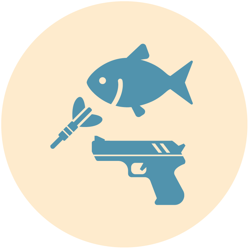 釣り・ダーツ・サバゲー